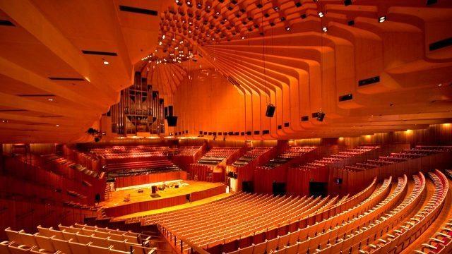 CXNMYJ Sydney, New South Wales, Australia, interior view of the Sydney Opera House