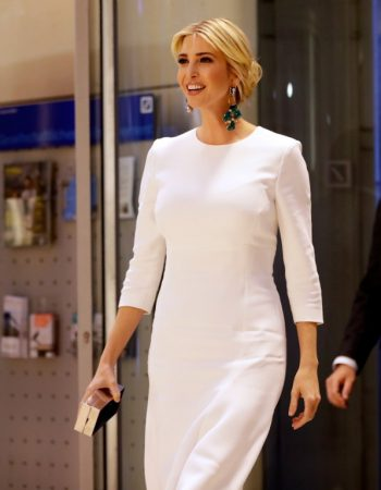Ivanka Trump, daughter and advisor of the US President, arriving at a dinner in the Deutsche Bank after taking part in the international W20 summit on women's empowerment in Berlin, Germany, 25 April 2017. Photo: Michael Sohn/AP-POOL/dpa
