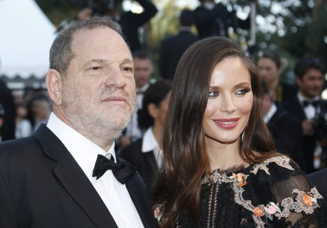 epa04762525 US producer Harvey Weinstein (L) and his wife Georgina Chapman (R) arrive for the screening of 'The Little Prince' during the 68th annual Cannes Film Festival, in Cannes, France, 22 May 2015. The movie is presented out of competition at the festival which runs from 13 to 24 May. EPA/GUILLAUME HORCAJUELO