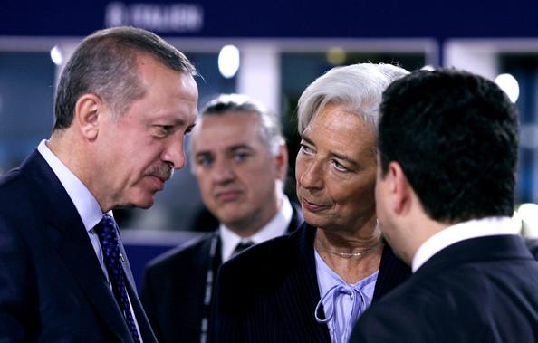 Christine+Lagarde+Recep+Tayyip+Erdogan