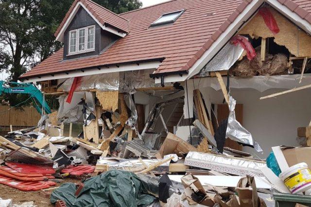 Γκρεμισμένο σπίτι στην Αγγλία