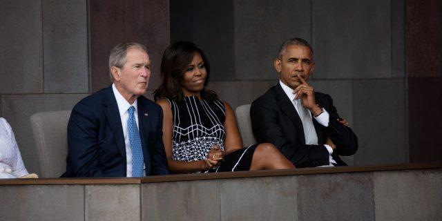 george-bush-michelle-obama