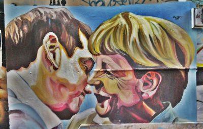 Μέρκελ Τσίπρας γκράφιτι