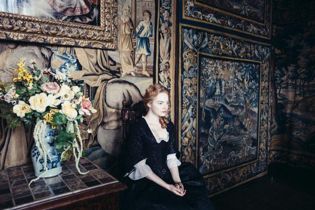 Emma Stone in the film THE FAVOURITE