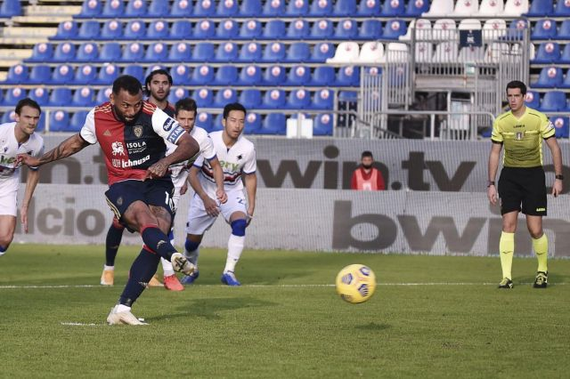 cagliari lost by two against milan