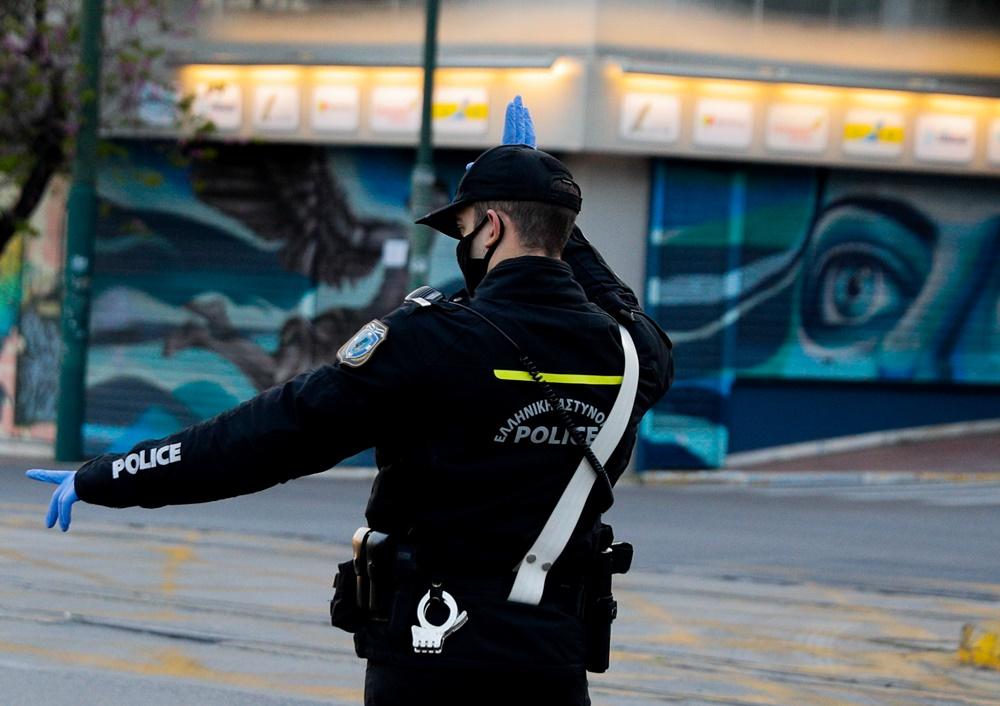 Αστυνομικός απαγόρευση κυκλοφορίας έλεγχος