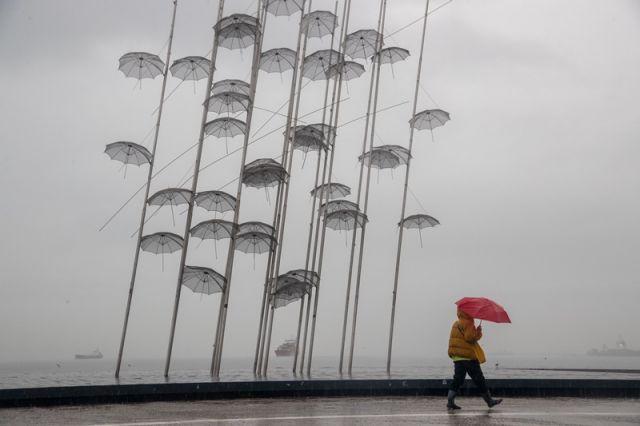 βροχή στη Θεσσαλονίκη