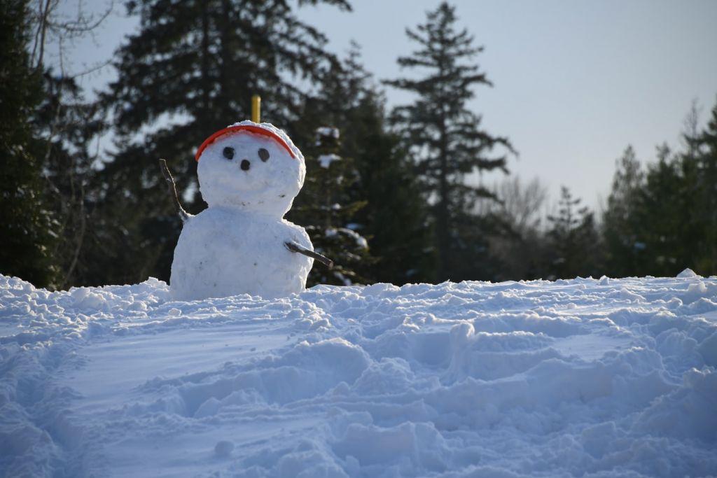 Χιονάνθρωπος Χριστούγεννα κρύο χιόνι παγωνιά