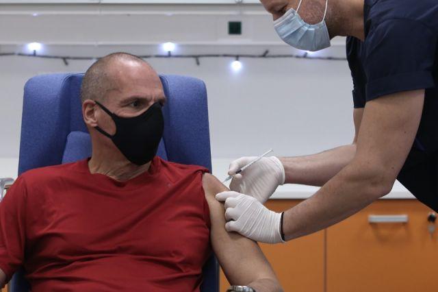 Βαρουφάκης εμβόλιο