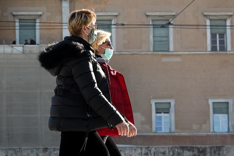 Γυναίκες με μάσκα κορονοϊός