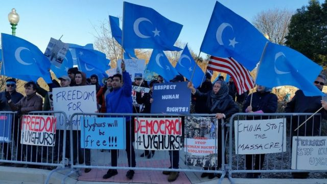 Ουιγούροι διαμαρτυρία