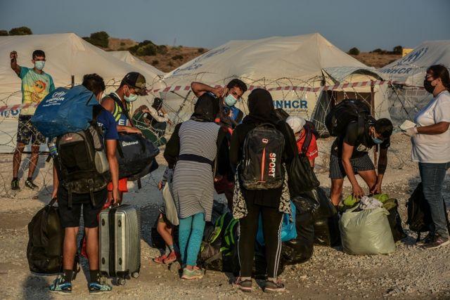 Μετανάστες στη Χίο