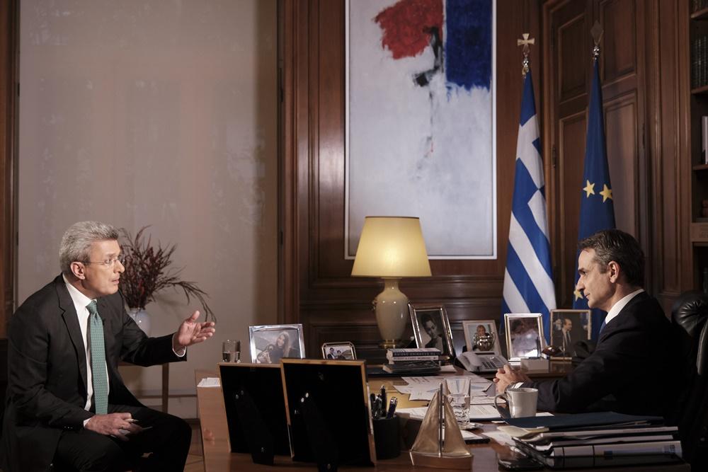 Κυριάκος Μητσοτάκης Νίκος Χατζηνικολάου συνέντευξη στον ΑΝΤ1