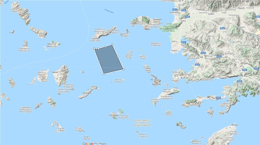 navtex Τουρκία χάρτης