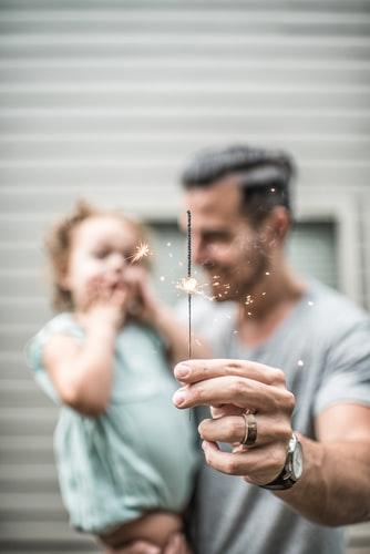 Πατέρας με το παιδί σ