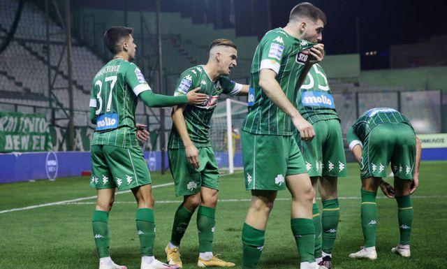 panathinaikos celebrates goal against ael