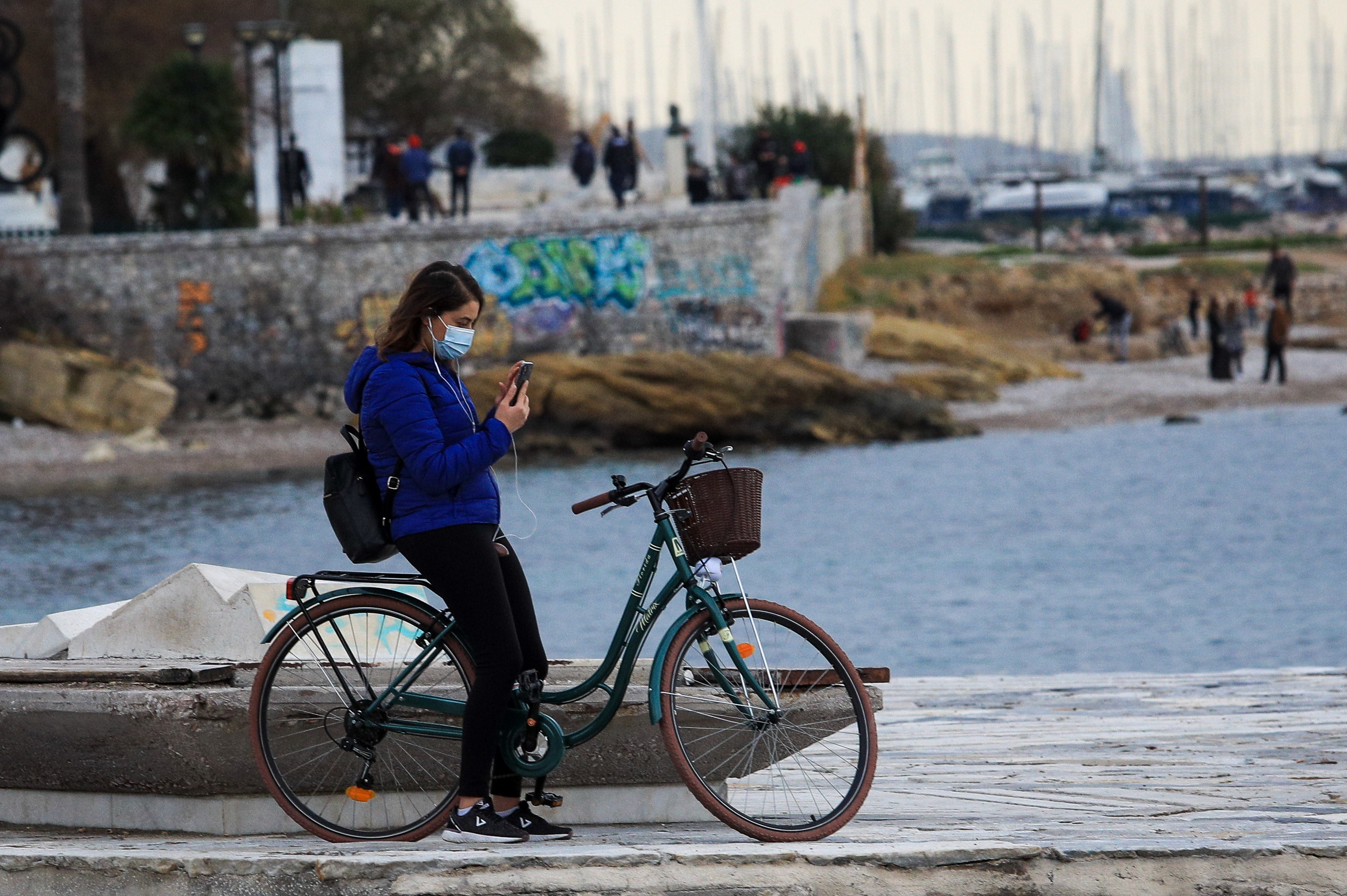Βόλτα με ποδήλατο κορονοϊός lockdown