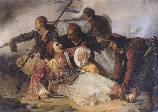 Ο θάνατος του αγωνιστή 1821