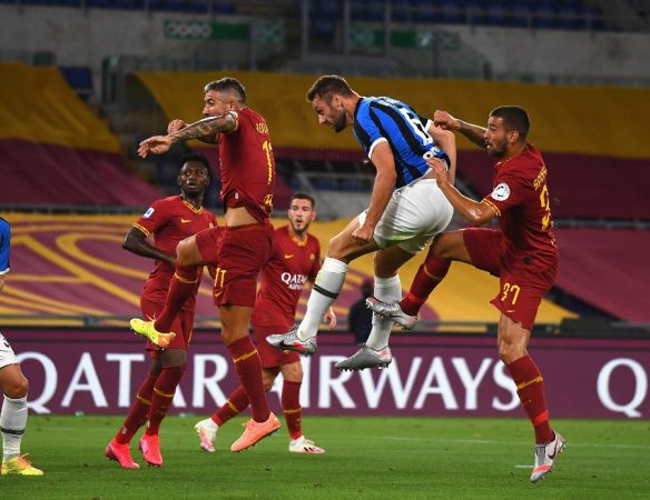 inter held in draw 2-2 with roma