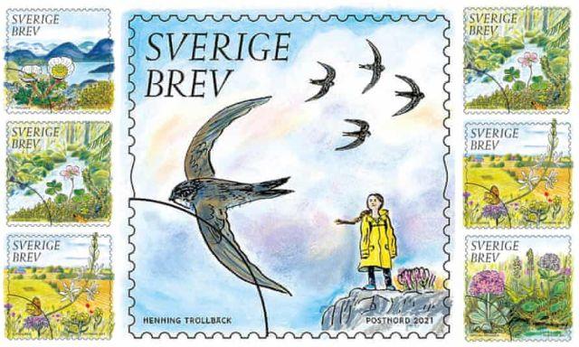 Γραμματόσημο Γκρέτα Τούνμπεργκ