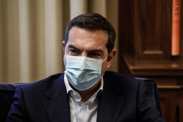 Αλέξης Τσίπρας μάσκα