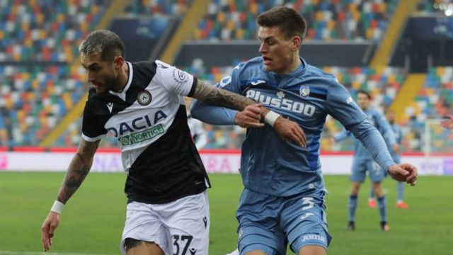 fair draw for udeinese and atalanta