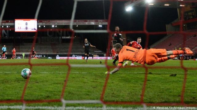 union's first goal against bayer