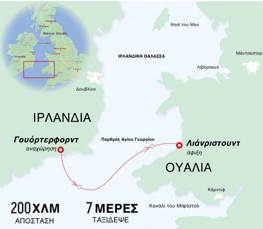 ο χάρτης του viral ταξιδιου