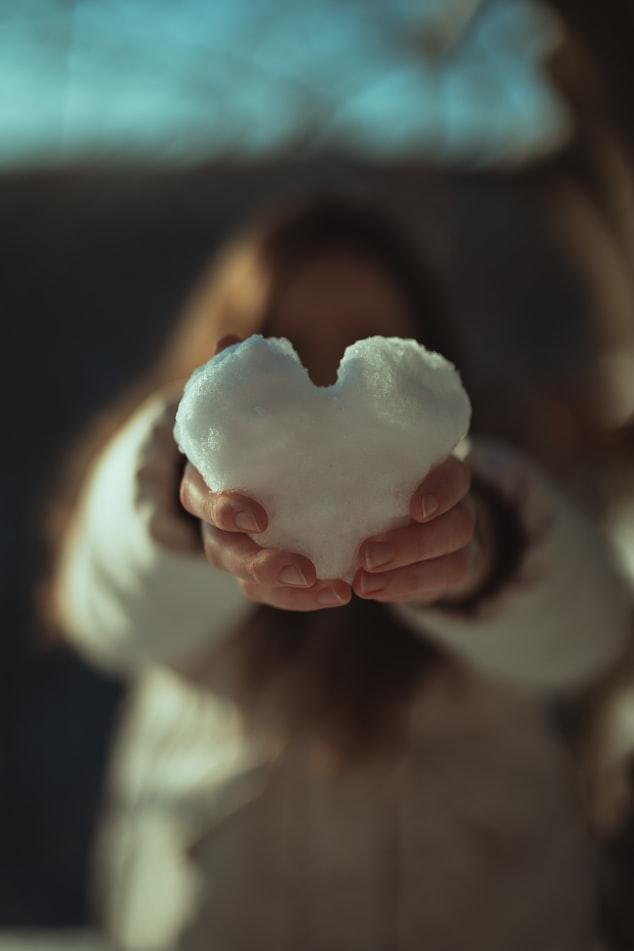 Χιονισμένη καρδούλα