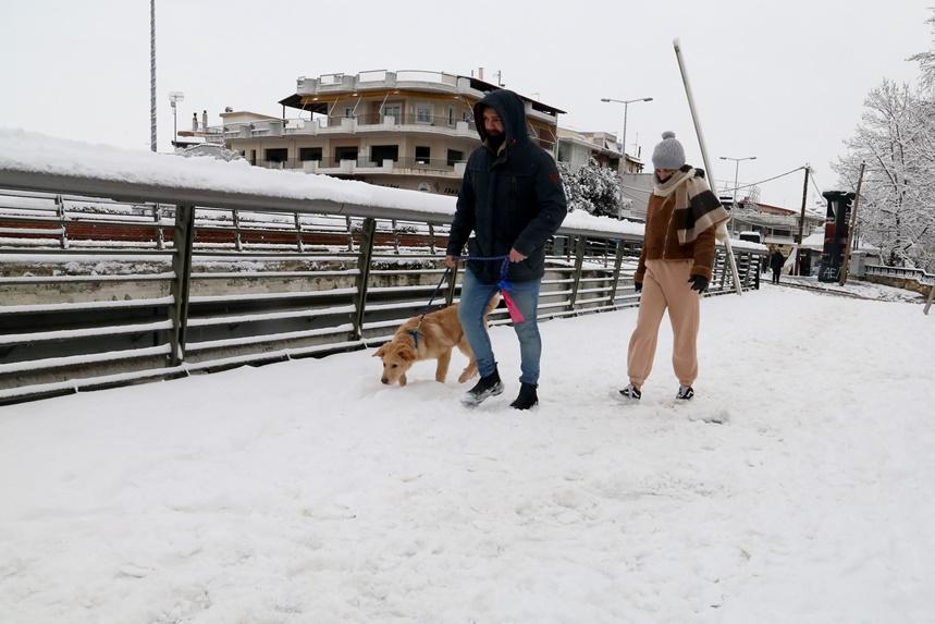 Βόλτα στο χιόνι