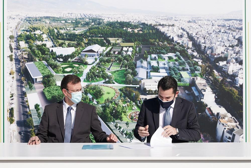 υπογραφή της συμφωνίας μεταξύ του Δήμου Αγίων Αναργύρων - Καματερού και της ΟΣΕ - ΓΑΙΑΟΣΕ