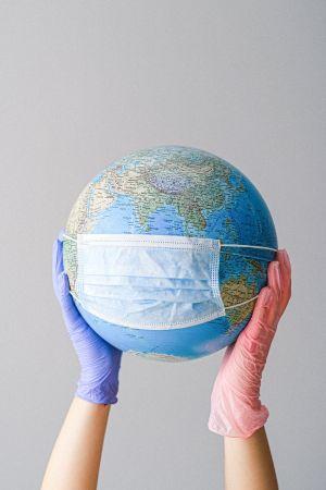 Πλανήτης Γη μάσκα