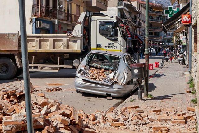 Ζημιές από τον σεισμό