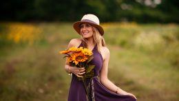 Γυναίκα λουλούδια